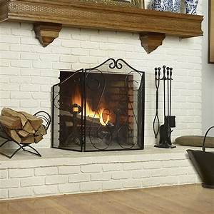Shelterlogic, Scrollwork, Fireplace, Screen, In, Fireplace, Screens, And, Tools