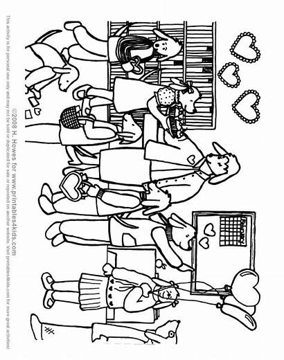 Coloring Classroom Valentines Recognition Develop Creativity Ages