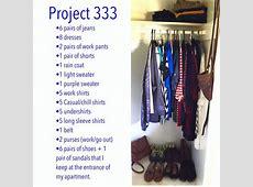Fall 2017 Project 333 Capsule Wardrobe by Bellz
