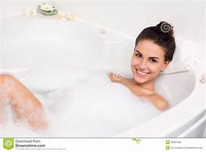 Young Woman Takes Bubble Bath Stock Images Image 32321454