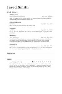 tool and die machinist resume sle cnc machinist resume sles visualcv resume sles