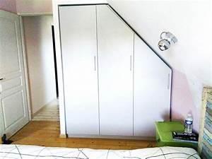 Dressing Sur Mesure Sous Pente : meuble sous pente ou sous escalier sur mesure dessinetonmeuble ~ Melissatoandfro.com Idées de Décoration