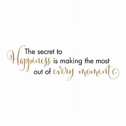 Moment Happiness Every Quotes Wall Making Decal