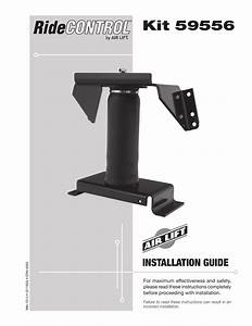 Air Lift 59556 Ridecontrol Installation Guide