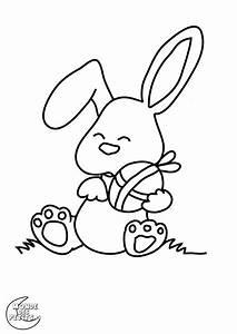Modèle De Dessin Facile : coloriage lapin awesome coloriage lapin de paques facile ~ Melissatoandfro.com Idées de Décoration