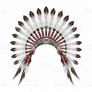 Native American Indian Feather Headdress stock vector art ...