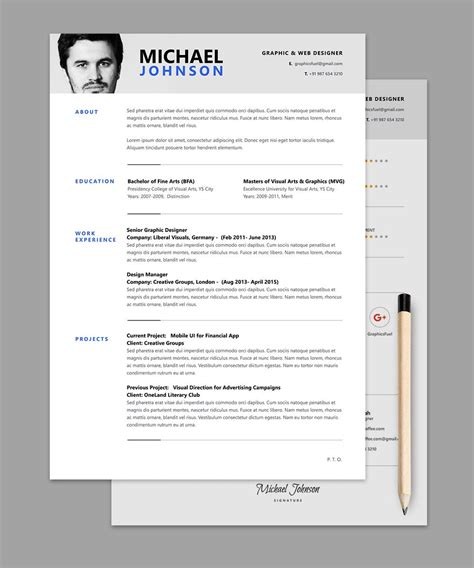 Cv Layout Free by Resume Cv Psd Template Me Graphic Design Resume