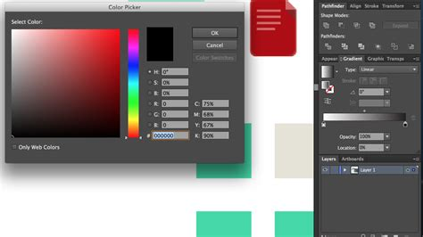 how to use the color picker in illustrator graphic