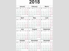 2018 Calendar PNG Transparent Images PNG All