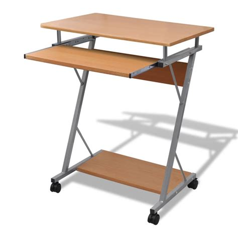 desk with slide out table computer desk pull out tray brown furniture office student