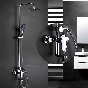 Chrome, All, Copper, Hot, And, Cold, Mixer, Shower, Faucet, Three, Function, Bathroom, Bath, Big, Shower
