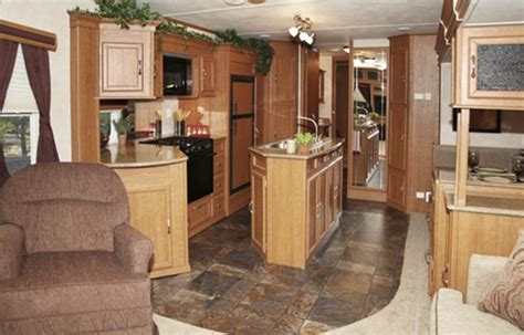 rv kitchen island custom built park model trailers american rv 2077