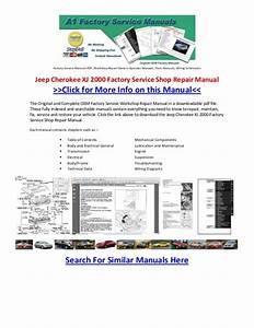 Jeep Cherokee Xj 2000 Factory Service Shop Repair Manual