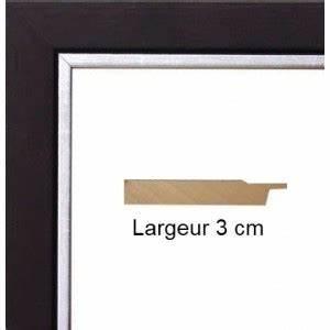 Cadre 60 X 80 : cadre bois noir bord argent avec verre et dos prix discount sur cadre ~ Teatrodelosmanantiales.com Idées de Décoration