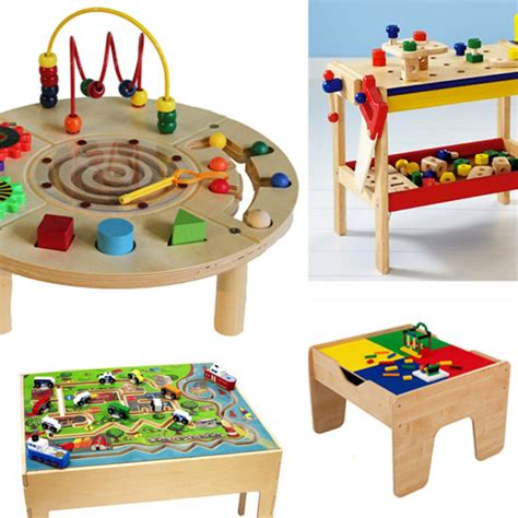 baby activity table wooden activity tables for kids play popsugar moms