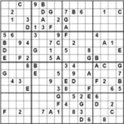 Click on the level you want to make to access the corresponding puzzles. 16x16 Sudoku Magazine