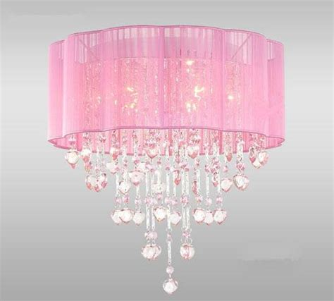pink drum shade ceiling chandelier pendant light