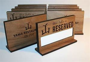 Custom, Wooden, Table, Reserved, Signs