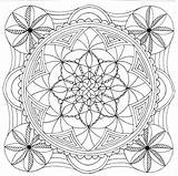 Mandala Square Adult Colouring Coloring Pages Printable Getcolorings sketch template