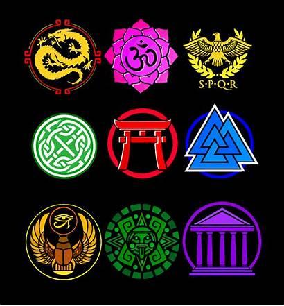 Smite Pantheon Symbols Fanart Spare During