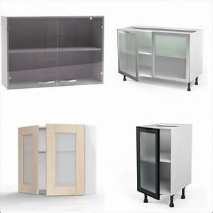 buffet de cuisine ikea en pin vitree With meuble cuisine porte coulissante ikea