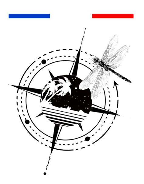 tatouage boussole voyage poignet temporaire  emy linked