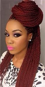 Natural hair. Box braids. Protective style. I might try ...