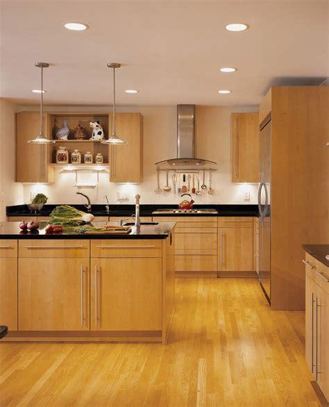 maple cabinets  black granite countertops contemporary
