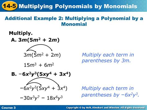 Multiplying Polynomials By Monomials  Ppt Video Online Download