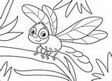 Dragonfly Coloring sketch template