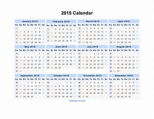 2015 calendar template template 2 pdf template for three With 2015 yearly calendar template in landscape format
