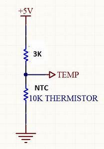 10k Thermistor Chart Sensor Ntc Temprature Formula Electrical Engineering