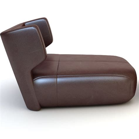 etienne baxter italy armless chair ottoman 3d model max