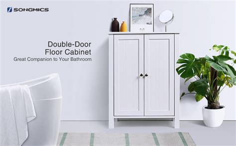 Songmics Bathroom Floor Storage Cabinet With