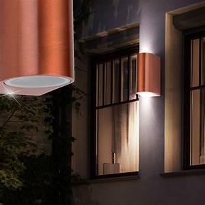 Up And Down Lampen Aussen : 2er set led wand strahler au en bereich beleuchtung up down lampen kupferf rbig 4059157022188 ebay ~ Whattoseeinmadrid.com Haus und Dekorationen