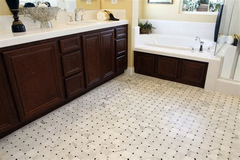 a guide to sustainable bathroom flooring options during a