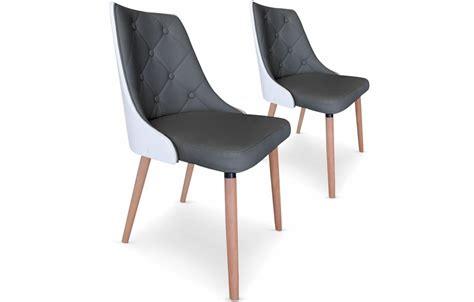 chaise cuir gris chaise imitation cuir gris
