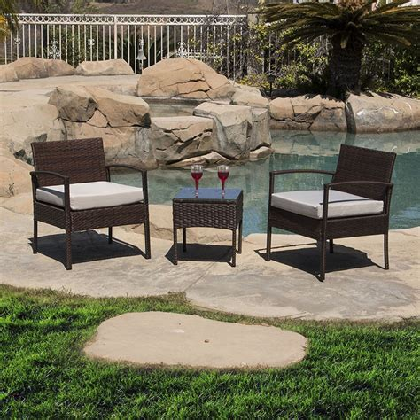 df patio furniture outdoor patio set 3pc wicker furniture seating garden