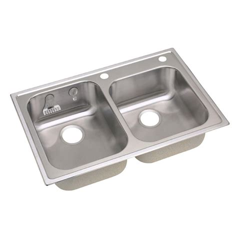 elkay stainless steel kitchen sinks elkay magna drop in stainless steel 33 in 2 8866