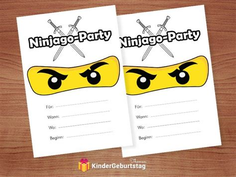ninjago einladungskarten zum ausdrucken ninjago lego