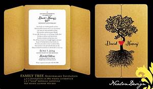 invitation business anniversary gallery invitation With family tree wedding invitations