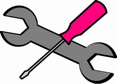 Tools Pink Clip Clipart Vector Clker Hi