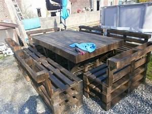 Table Et Siges De Jardin En Palettes Recyclage Palettes