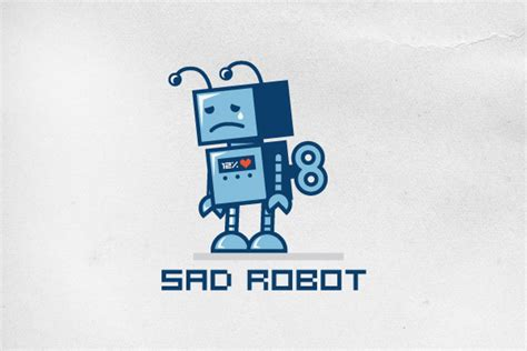Sad Robot Logo Design