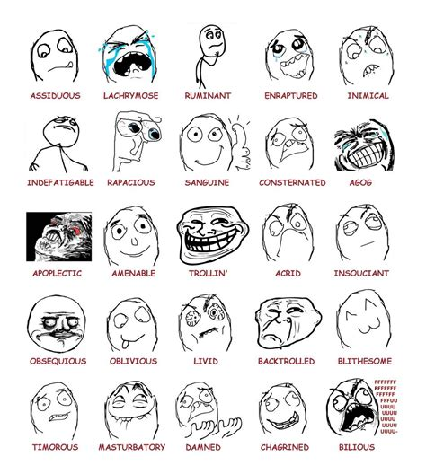 Reddit Meme Faces - what the heck is the rage comic talking about rise and dance