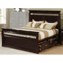create a storage bedroom with king size bed frame with