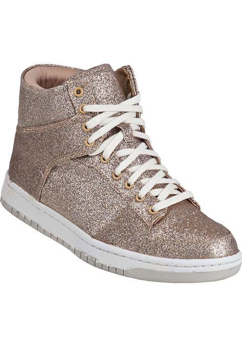 lyst steve madden shufle sneaker gold glitter  metallic