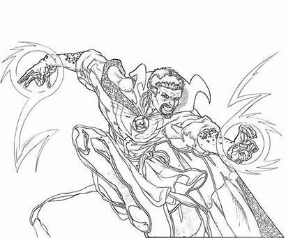 Strange Coloring Doctor Dr Marvel Ausmalbilder Power