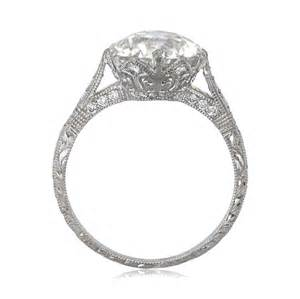 engagement rings solitaire crown setting engagement ring vintage ring