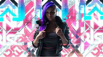 Cyberpunk 2077 Cosplay Artworks Hair Purple Wallpapers